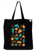 Bavlněná taška Mořský život černá