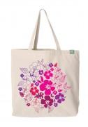 Bavlněná taška Pink Flowers světlá