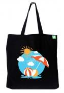 Bavlněná taška Prázdniny černá