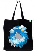 Bavlněná taška Velryba černá
