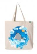 Bavlněná taška Velryba světlá